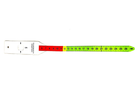 MUAC arm circunference infant tape measure