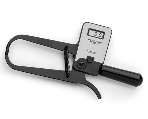 Cescorf Digital Skinfold Caliper with Case, Anthropometric Tape Measure, Self-Calibration
