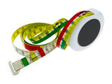 color-coded tape measure