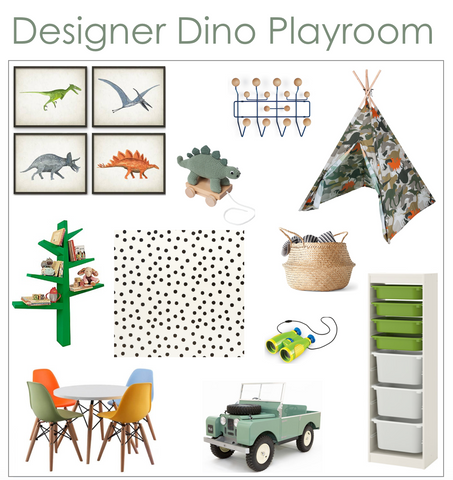 Dino theme playroom