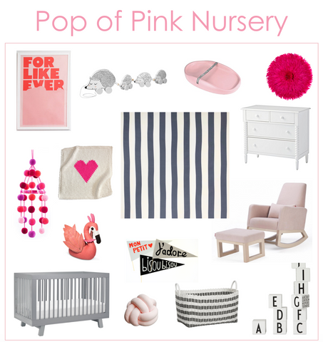 Pop of pink nursery