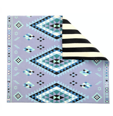 Blue Moroccan Rug/ Stripe Play Mat- PRE ORDER - PRE ORDER and SAVE 15%  use code PREORDER15 at checkout  -Shipping October