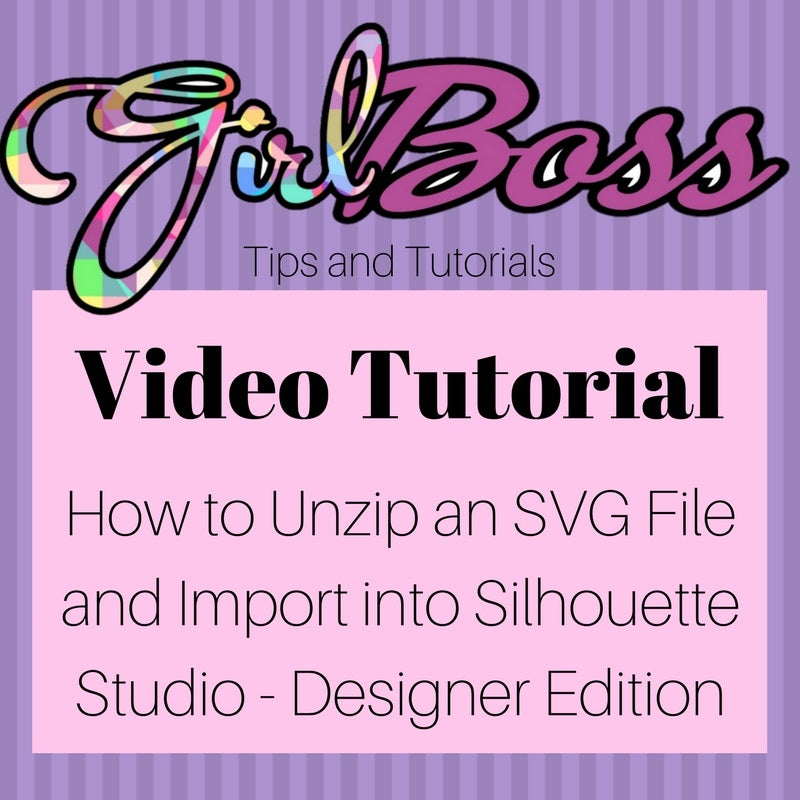How to unzip an SVG file and import into Silhouette Studio - Designer Edition