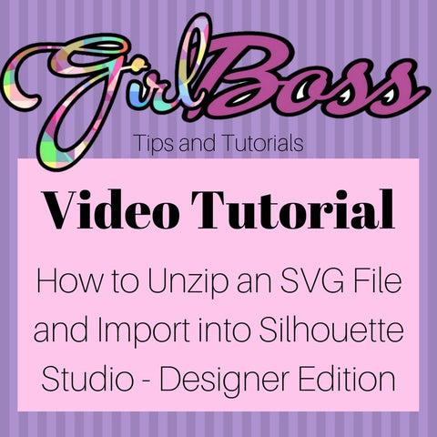 How to unzip an SVG file and import into Silhouette Studio