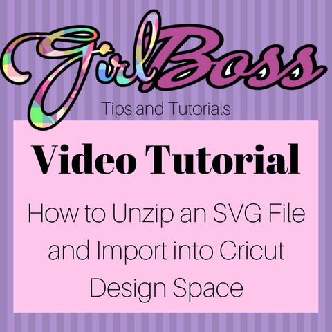 How to Unzip a Zip File and Import Files into the Cricut Design