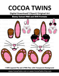 Digital Download  - Bunny Rabbit Cutouts