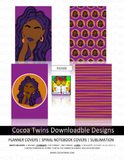 012102 Digital Download  - Printable and Downloadable Designs | Planner Covers | Spiral Notebooks | Sublimation | Travel Mugs | TShirts and More!