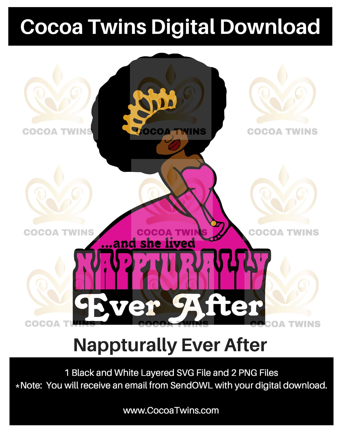 Digital Download  -  Nappturally Ever After - SVG Layered File and PNG File Format - Cocoa Twins