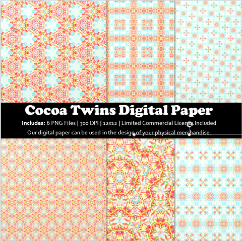 04122109 - Printable Paper Pack, Digital Paper Set, Seamless Paper, Patterns, Printable, Commercial Use