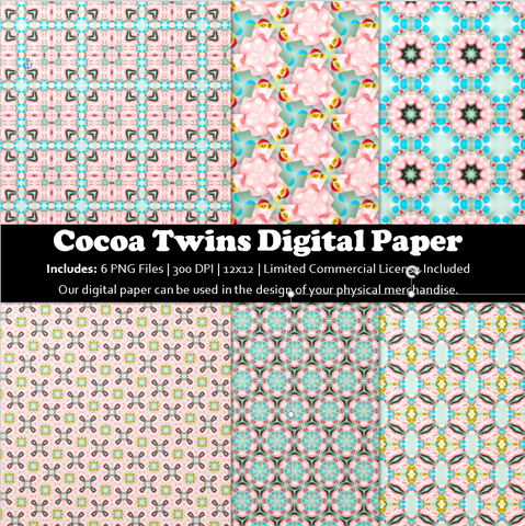 04122110 - Printable Paper Pack, Digital Paper Set, Seamless Paper, Patterns, Printable, Commercial Use