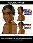 Digital Download  -  Diamond - SVG Layered File and PNG File Format - Cocoa Twins