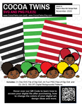 Digital Download  - Holiday Pack Stripes - Peek A Boo Girl