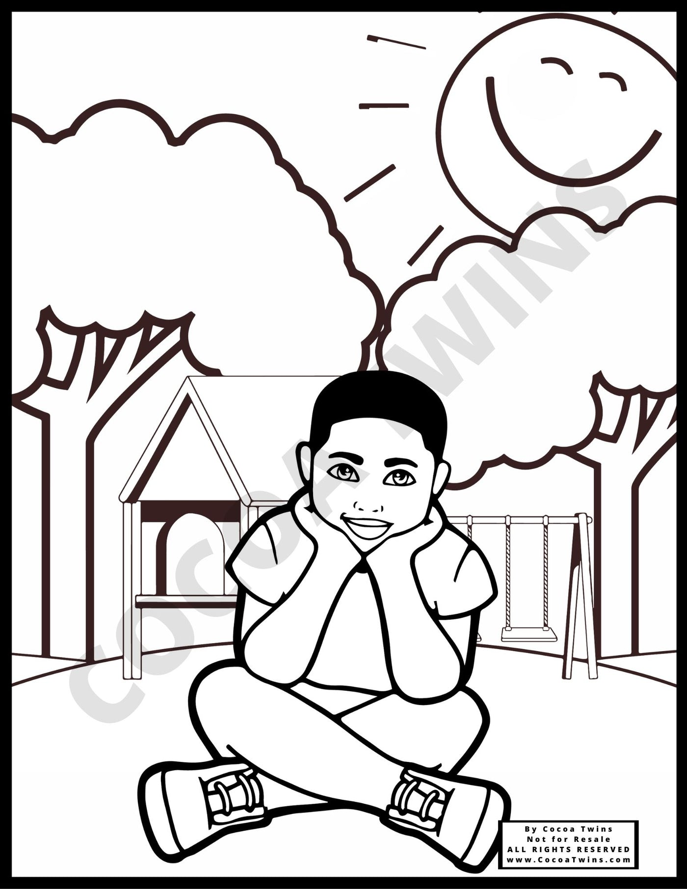 Coloring Page - Playground Bound 02(JPG Format Only)