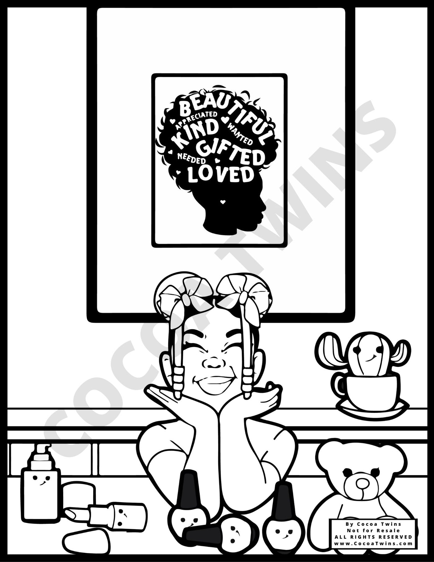Coloring Pages - Mommys Make-Up (JPG Format Only)