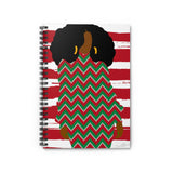 03C Cocoa Twins Ugly Sweater Spiral Notebook - Ruled Line