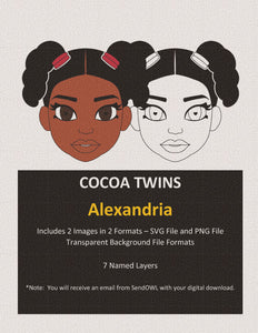 Digital Download  - Alexandria - SVG Layered File and PNG File Format - Cocoa Twins