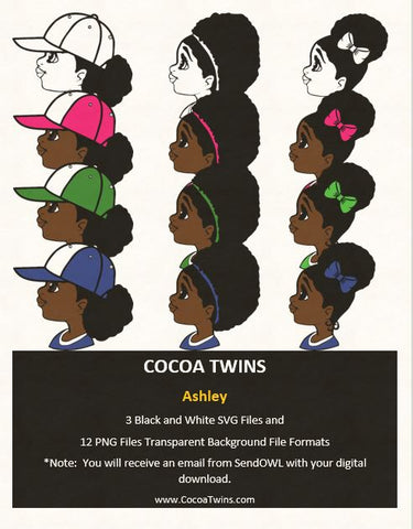 Digital Download  - Ashley   - SVG Layered File and PNG File Format - Cocoa Twins
