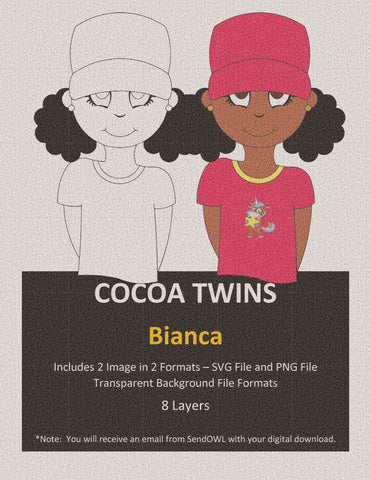 Digital Download  - Bianca - SVG Layered File and PNG File Format - Cocoa Twins