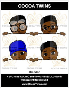 Digital Download  - Brandon - SVG Layered File and PNG File Format - Cocoa Twins
