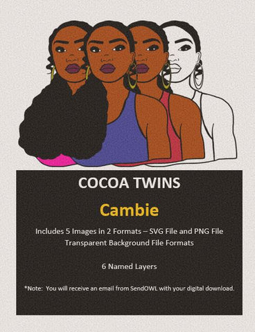 Digital Download  - Cambie - SVG Layered File and PNG File Format - Cocoa Twins