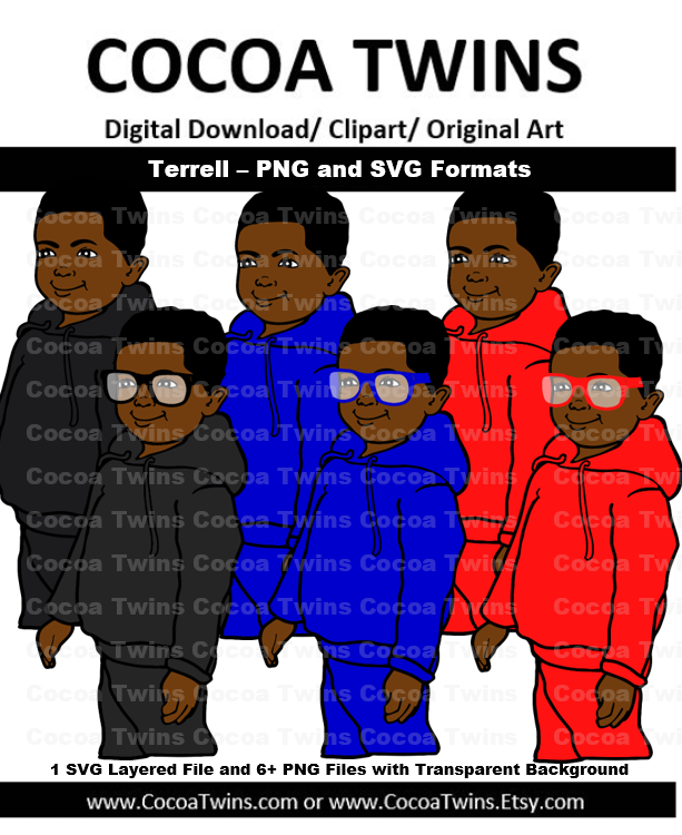 Digital Download - Terrell - SVG Layered File and PNG File Format