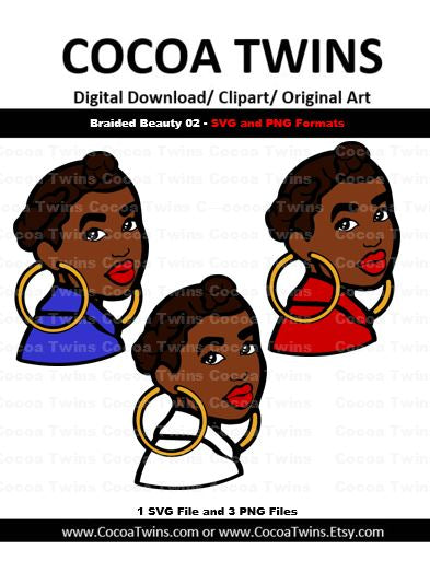 Digital Download  - Braided Beauty 02