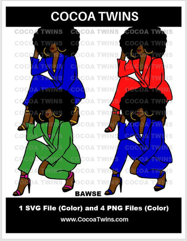 Digital Download  - Bawse - SVG Layered File and PNG File Format - Cocoa Twins