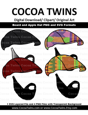 Digital Download  -  Beard and Apple Hat