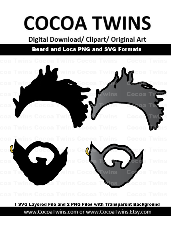 Digital Download  -  Beard and Locs