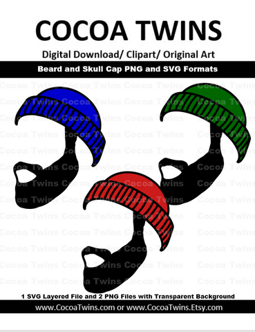 Digital Download  -  Beard and Skull Cap