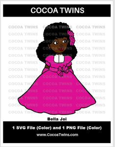 Digital Download  - Bella Joi - SVG Layered File and PNG File Format - Cocoa Twins