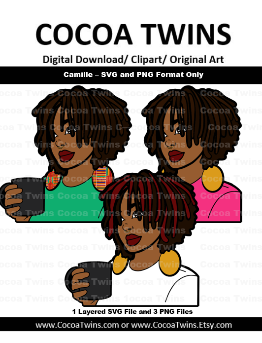 Digital Download  -  Camille - SVG Layered File and PNG File Format