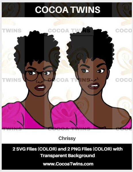 Digital Download  - Chrissy - SVG Layered and PNG File Formats - Cocoa Twins