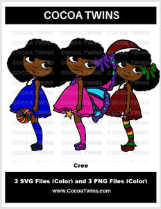 Digital Download  - Cree - SVG Layered File and PNG File Format - Cocoa Twins