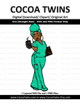 Digital Download  -  Nurse Eva (Wrapped) - SVG Layered File and PNG File Format