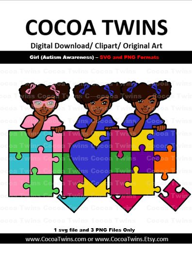 Digital Download  - Girl with Puzzle - SVG Layered File and PNG File Format