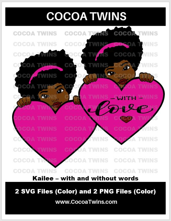 Digital Download  - Kailee - SVG Layered File and PNG File Format - Cocoa Twins