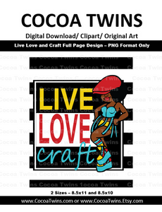 Digital Download - Live Love and Craft Full Page Design