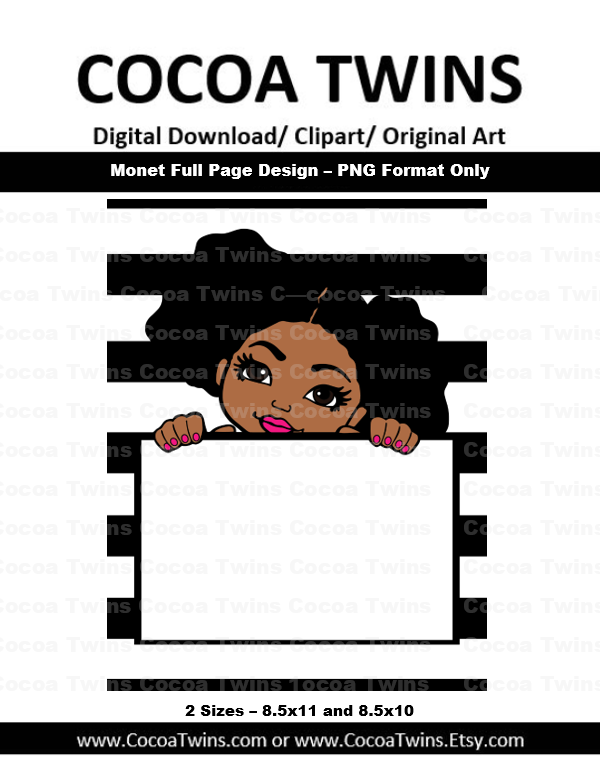 Digital Download - Monet Full Page Design