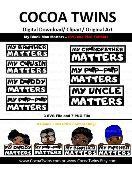 Digital Download - They Matter - SVG Layered File and PNG File Format