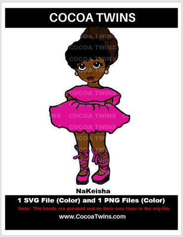 Digital Download  - Nakeisha - SVG Layered File and PNG File Format - Cocoa Twins