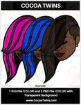 Digital Download  - Norelle - SVG Layered File and PNG File Format - Cocoa Twins