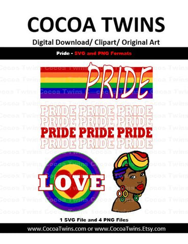 Digital Download  - Pride - SVG Layered File and PNG File Format