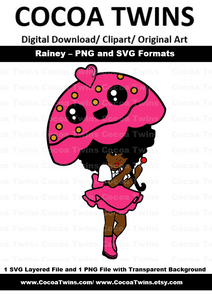 Digital Download  -  Rainey -  SVG Layered File and PNG File Format