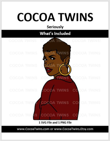 Digital Download  - Seriously - SVG and PNG Formats - Cocoa Twins