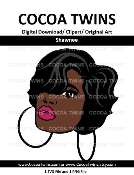 Digital Download  - Shawnee - SVG Layered File and PNG File Format