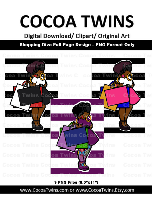 Digital Download - Shopping Diva Full Page Designs