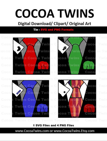 Digital Download - Dads Tie - SVG Layered File and PNG File Format