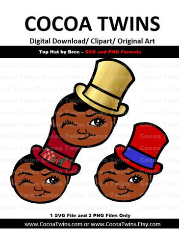 Digital Download  - Top Hat by Brianna - SVG Layered File and PNG File Format