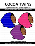 Digital Download  - Wrapped Beauty Profile - SVG Layered File and PNG File Format